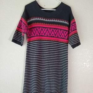 Girls Old Navy Sweater dress sz 14 XL Fair Isle